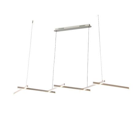 Подвесной светодиодный светильник ST Luce Basoni SL394.503.06, LED 84W 4000K 4900lm, белый, металл, металл с пластиком