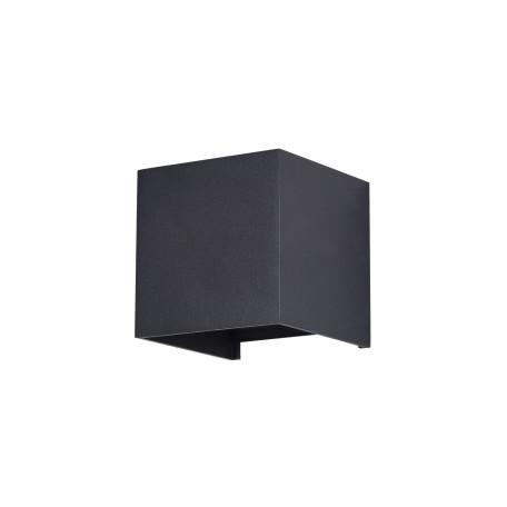 Настенный светодиодный светильник Maytoni Fulton O572WL-L6B, IP54, LED 6W 3000K 400lm CRI80, черный, металл