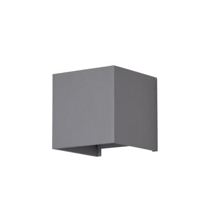 Настенный светодиодный светильник Maytoni Fulton O572WL-L6GR, IP54, LED 6W 3000K 400lm CRI80, серый, металл