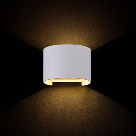 Настенный светодиодный светильник Maytoni Fulton O573WL-L6W, IP54, LED 6W 3000K 400lm CRI80, белый, металл