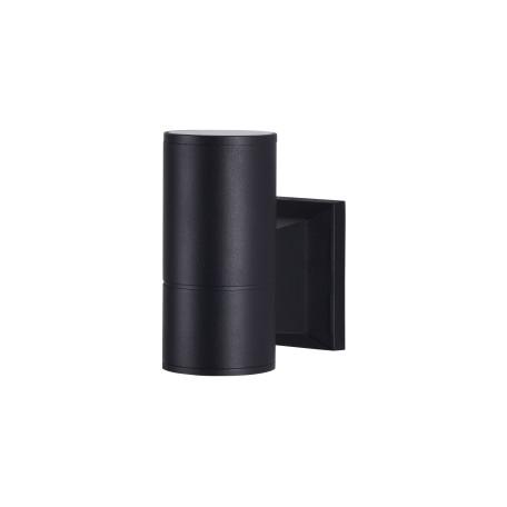 Настенный светильник Maytoni Bowery O574WL-01B, IP54, 1xGU10x50W, черный, металл, металл со стеклом, стекло