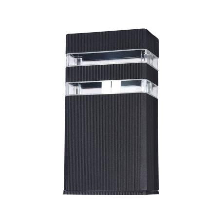 Настенный светильник Maytoni Unter den Linden O578WL-01B, IP54, 1xE27x60W, черный, прозрачный, металл, стекло