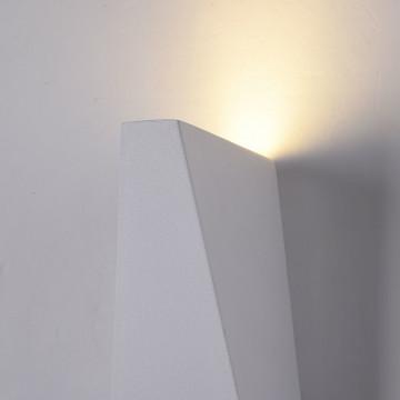 Настенный светодиодный светильник Maytoni Times Square O580WL-L6W, IP54, LED 6W 3000K 380lm CRI80, белый, металл - миниатюра 8