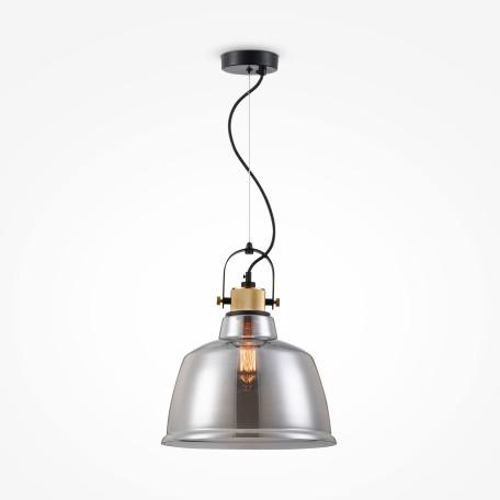 Подвесной светильник Maytoni Modern Irving T163PL-01C, 1xE27x40W, черный, дымчатый, металл, стекло
