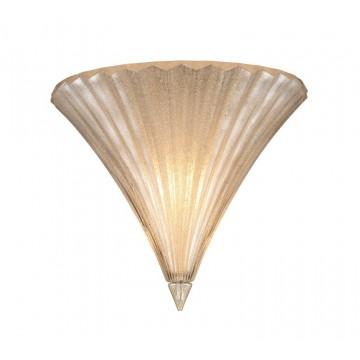 Настенный светильник Ideal Lux SANTA AP1 SMALL ORO 013046 SALE, 1xE14x40W, белый, стекло