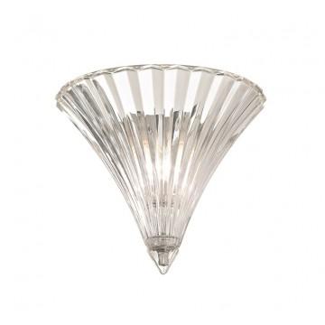 Настенный светильник Ideal Lux SANTA AP1 SMALL TRASPARENTE 013060 SALE, 1xE14x40W, прозрачный, стекло