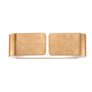 Настенный светильник Ideal Lux CLIP AP2 MINI ORO 091129 SALE, 2xG9x40W, матовое золото, металл, стекло