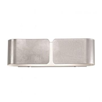 Настенный светильник Ideal Lux CLIP AP2 MINI ARGENTO 091136 SALE, 2xG9x40W, серебро, металл, стекло