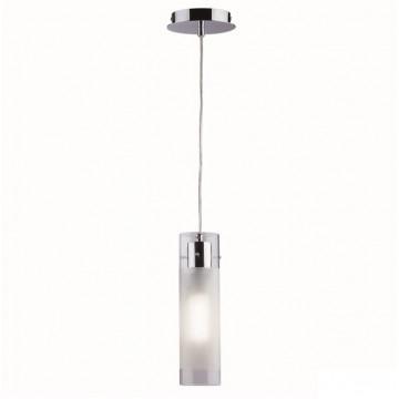 Подвесной светильник Ideal Lux FLAM SP1 SMALL 027357 SALE, 1xE27x60W, хром, белый, металл, стекло