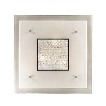 Потолочный светильник Ideal Lux STENO PL3 087580 SALE, 3xE27x60W, хром, белый, прозрачный, металл, стекло