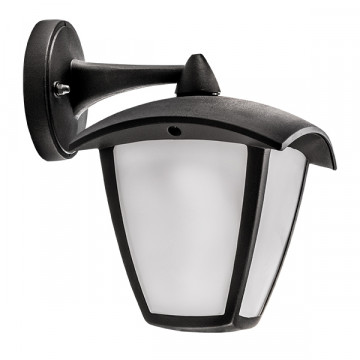 Настенный светодиодный фонарь Lightstar Lampione 375680, IP54, LED 8W 3000K 360lm, черный, черно-белый, металл, металл с пластиком