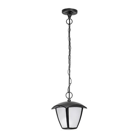 Подвесной светодиодный светильник Lightstar Lampione 375070, IP54, LED 8W 3000K 360lm, черный, черно-белый, металл, металл с пластиком