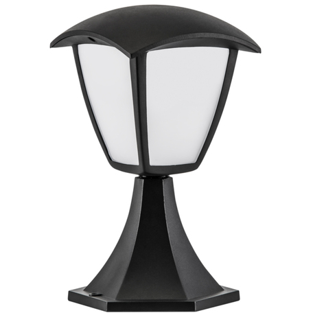 Садово-парковый светодиодный светильник Lightstar Lampione 375970, IP54, LED 8W 3000K 360lm, черный, черно-белый, металл, металл с пластиком