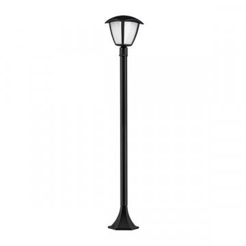 Уличный светодиодный фонарь Lightstar Lampione 375770, IP54, LED 8W 3000K 360lm, черный, черно-белый, металл, металл с пластиком