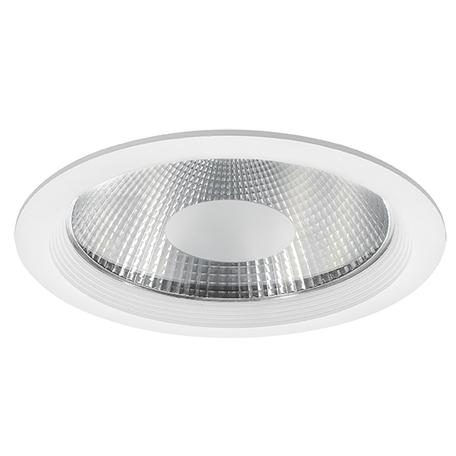 Встраиваемый светодиодный светильник Lightstar Forto 223402, IP44 3000K (теплый), белый, прозрачный, металл, стекло