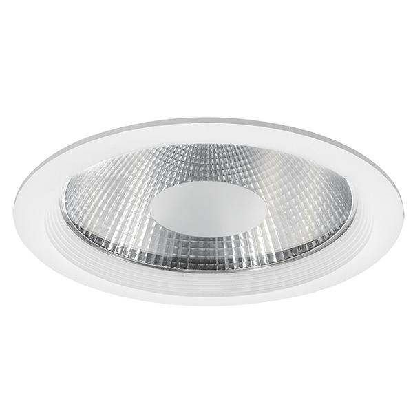 Встраиваемый светодиодный светильник Lightstar Forto 223402, IP44, LED 40W 3000K 3600lm, белый, прозрачный, металл со стеклом - фото 1