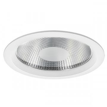 Встраиваемый светодиодный светильник Lightstar Forto 223404, IP44, LED 40W 4000K 3600lm, белый, прозрачный, металл со стеклом