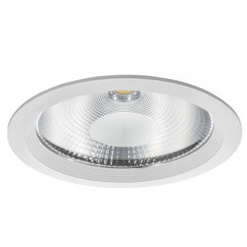 Встраиваемый светодиодный светильник Lightstar Forto 223502, IP44, LED 50W 3000K 4500lm, белый, прозрачный, металл со стеклом