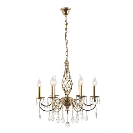 Подвесная люстра Arti Lampadari Deco E 1.1.6.600 G, 6xE14x40W, золото, прозрачный, металл, хрусталь