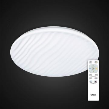 Потолочный светодиодный светильник с пультом ДУ Citilux Дюна LED CL72040RC, IP43, LED 40W 3000-4500K + RGB 2600lm, белый, металл, пластик - миниатюра 3
