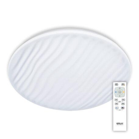 Потолочный светодиодный светильник с пультом ДУ Citilux Дюна LED CL72080RC, IP43, LED 80W 3000-4500K + RGB 5200lm, белый, металл, пластик