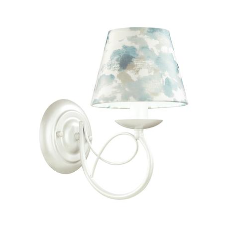 Бра Lumion Neoclassi Fleur 4541/1W, 1xE14x40W, белый, серый, голубой, металл, текстиль
