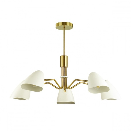 Люстра с регулировкой направления света на составной штанге Lumion Moderni Madison 4540/5C, 5xE14x40W, матовое золото, белый, металл