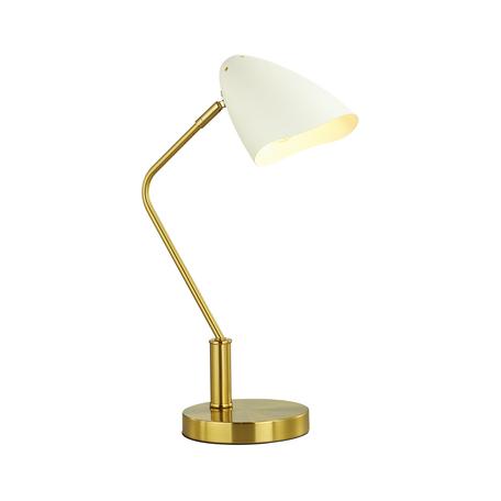 Настольная лампа Lumion Madison 4540/1T, 1xE14x40W, золото, белый, металл