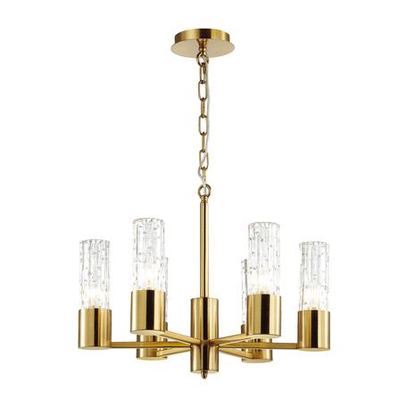 Подвесная люстра Odeon Light Hall Sabano 4841/6, 6xE14x40W, золото, прозрачный, металл, стекло