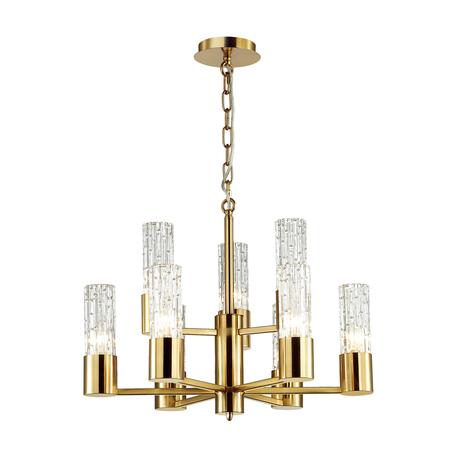 Подвесная люстра Odeon Light Hall Sabano 4841/9, 9xE14x40W, золото, прозрачный, металл, стекло