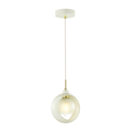 Подвесной светильник Lumion Moderni Noelle 4531/1, 1xE14x40W, белый, золото, металл, металл со стеклом