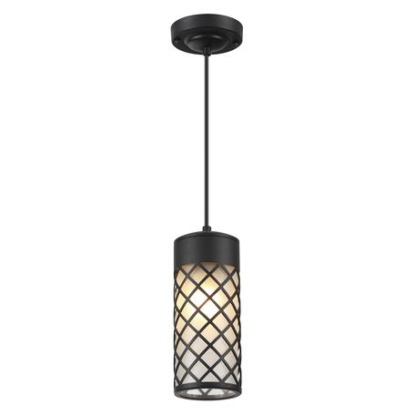 Подвесной светильник Odeon Light Nature Dunes 4834/1, IP44, 1xE27x60W, черный, черно-белый, металл, металл со стеклом