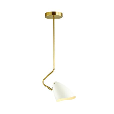 Потолочный светильник с регулировкой направления света Lumion Moderni Madison 4540/1, 1xE14x40W, матовое золото, белый, металл