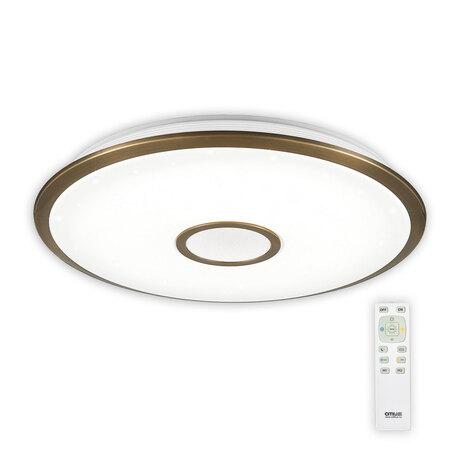 Потолочный светодиодный светильник с пультом ДУ Citilux Старлайт CL70383R, IP44, LED 80W, 3000-4500K, белый, бронза, металл, пластик