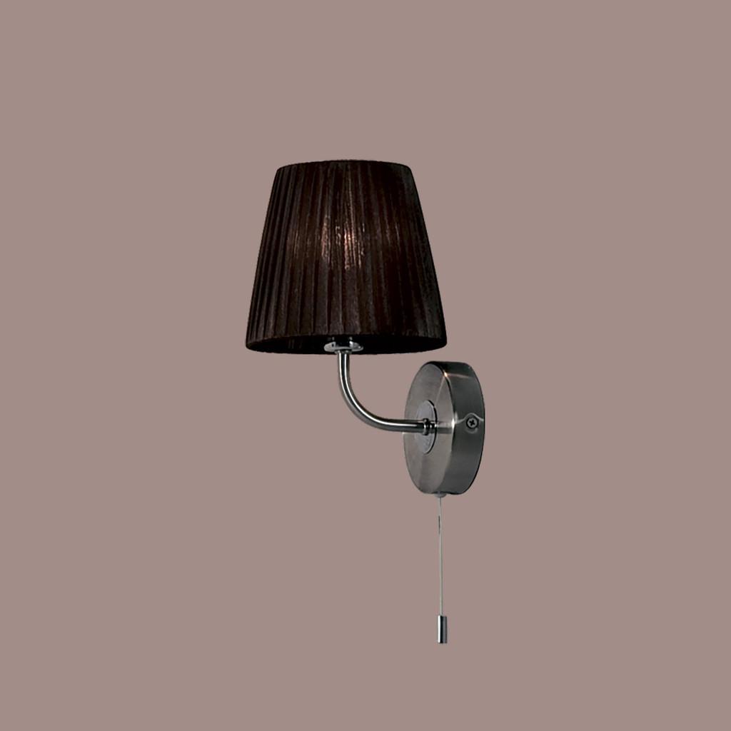 Бра Citilux Гофре CL913312, 1xE14x40W, хром, коричневый, металл, текстиль - фото 3