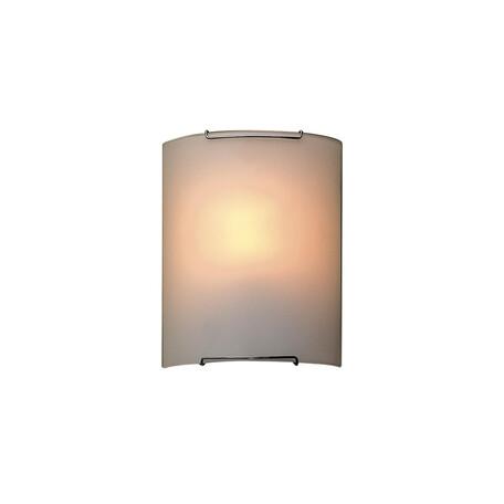 Настенный светильник Citilux Лайн CL921000, 1xE27x100W, хром, белый, металл, стекло