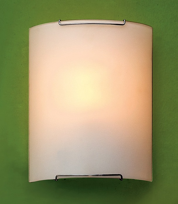 Настенный светильник Citilux Лайн CL921000W, 1xE27x100W, хром, белый, металл, стекло - фото 1