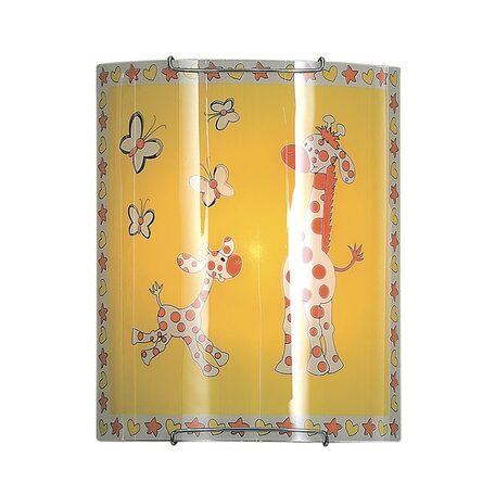 Настенный светильник Citilux Жирафы CL921001, 1xE27x100W, хром, разноцветный, металл, стекло