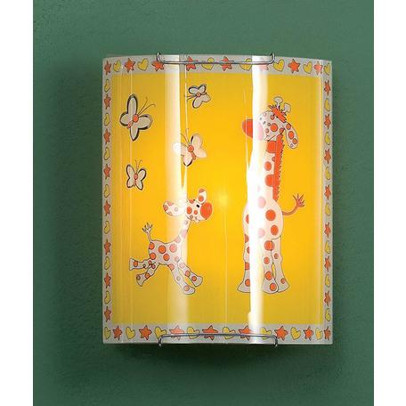 Настенный светильник Citilux Жирафы CL921001W, 1xE27x100W, хром, разноцветный, металл, стекло
