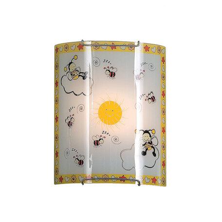 Настенный светильник Citilux Пчелки CL921005, 1xE27x100W, хром, разноцветный, металл, стекло - миниатюра 1