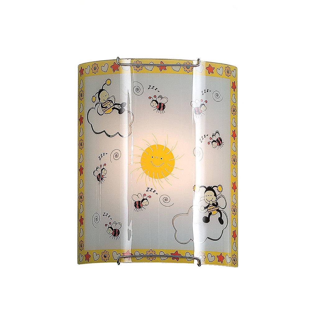 Настенный светильник Citilux Пчелки CL921005, 1xE27x100W, хром, разноцветный, металл, стекло - фото 1