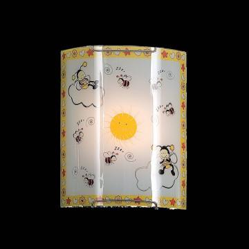 Настенный светильник Citilux Пчелки CL921005, 1xE27x100W, хром, разноцветный, металл, стекло - миниатюра 2