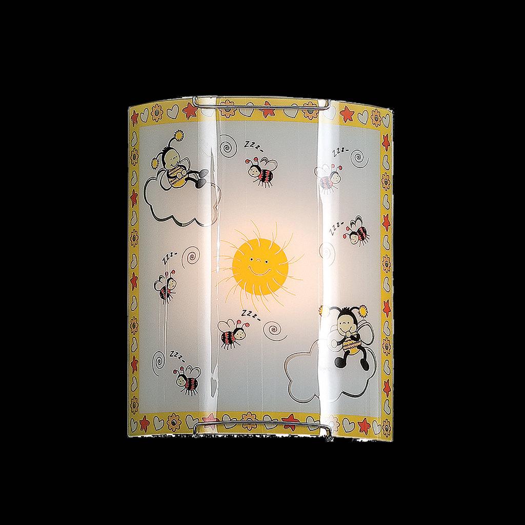 Настенный светильник Citilux Пчелки CL921005, 1xE27x100W, хром, разноцветный, металл, стекло - фото 2
