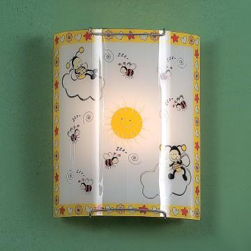 Настенный светильник Citilux Пчелки CL921005, 1xE27x100W, хром, разноцветный, металл, стекло - миниатюра 3