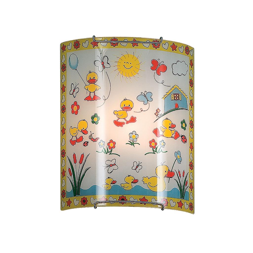 Настенный светильник Citilux Утята CL921007, 1xE27x100W, хром, разноцветный, металл, стекло - фото 1