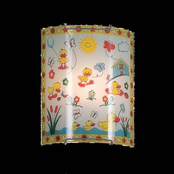 Настенный светильник Citilux Утята CL921007, 1xE27x100W, хром, разноцветный, металл, стекло - миниатюра 2