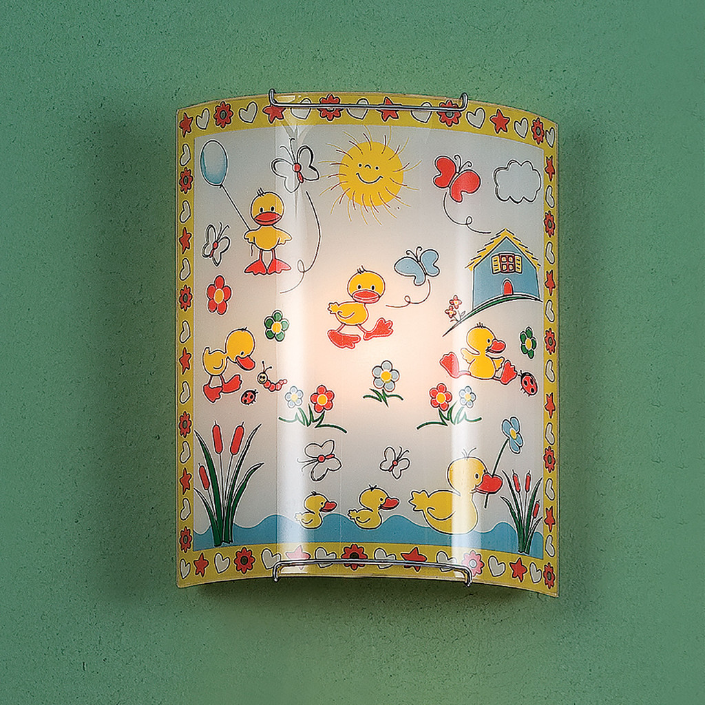 Настенный светильник Citilux Утята CL921007, 1xE27x100W, хром, разноцветный, металл, стекло - фото 3
