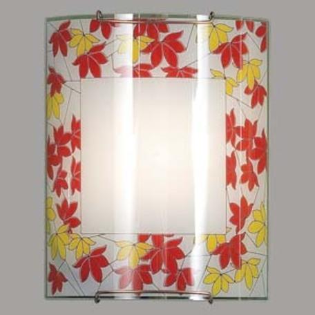 Настенный светильник Citilux CL921008, 1xE27x100W, хром, красный, металл, стекло