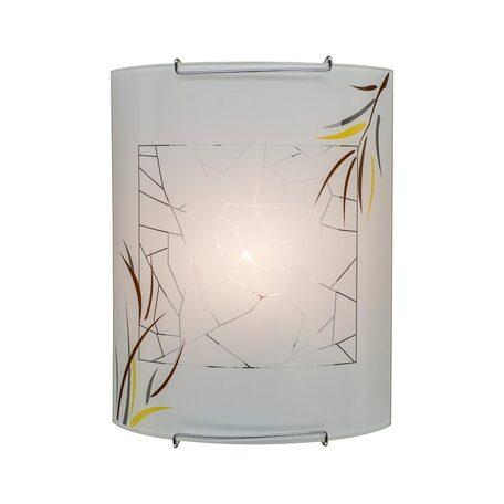 Настенный светильник Citilux Ива CL921009, 1xE27x100W, хром, белый, металл, стекло