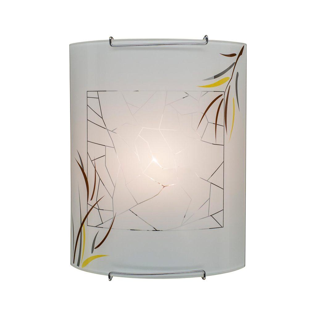 Настенный светильник Citilux Ива CL921009, 1xE27x100W, хром, белый, металл, стекло - фото 1